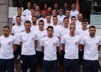 Fudbaleri kluba Radnički iz Niša na pripremama na Oplencu