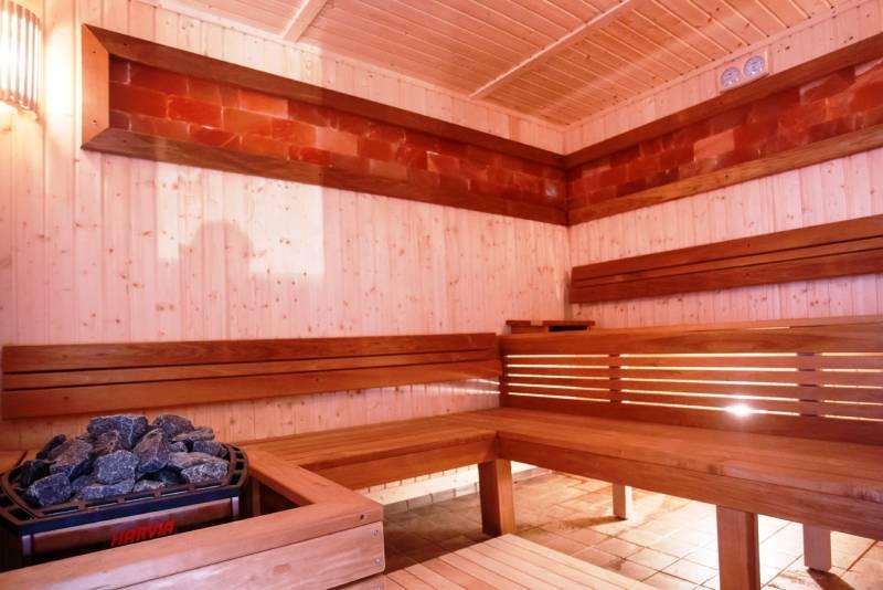 Slika saune u hotelu oplenac